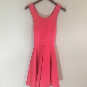 Coral Anthropologie dress w/ crossover straps med